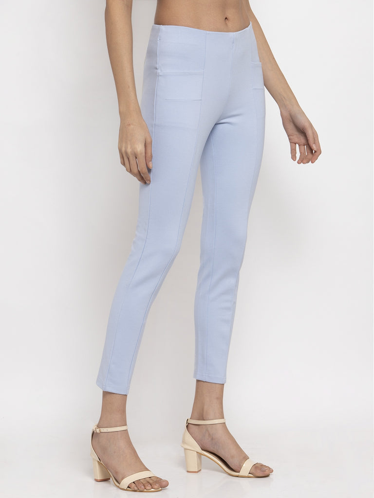 Narrow Fit Trouser Pant Sky Blue