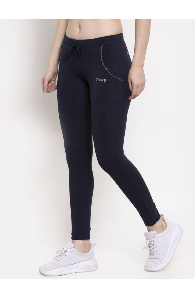 Cotton Navy Stretch Yoga Pant