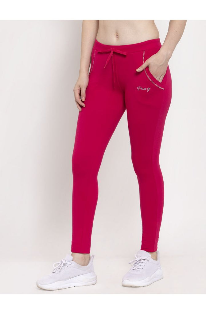 Pink Cotton Yoga Pant