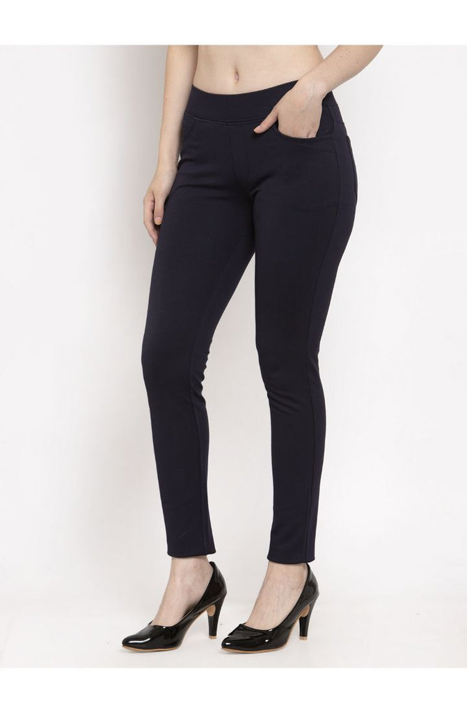 Navy ladies pants online