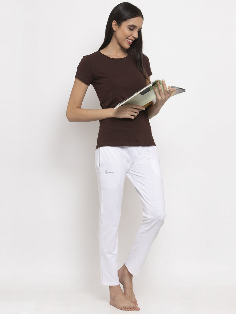 brown double layered ladies t shirts