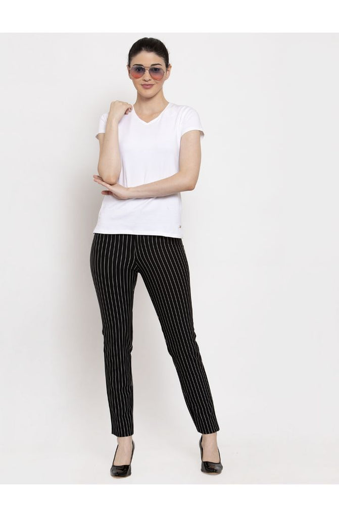 Black formal trousers for women