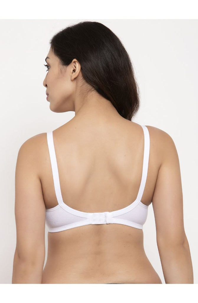 Shop for White Encircled Bra with Side Support