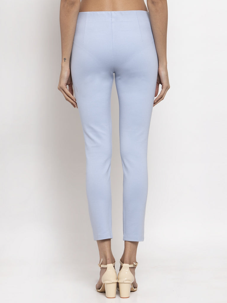 Sky Blue Narrow Fit Trouser Pant Online