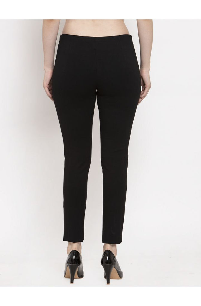 Black Narrow Fit Trouser Pant for women