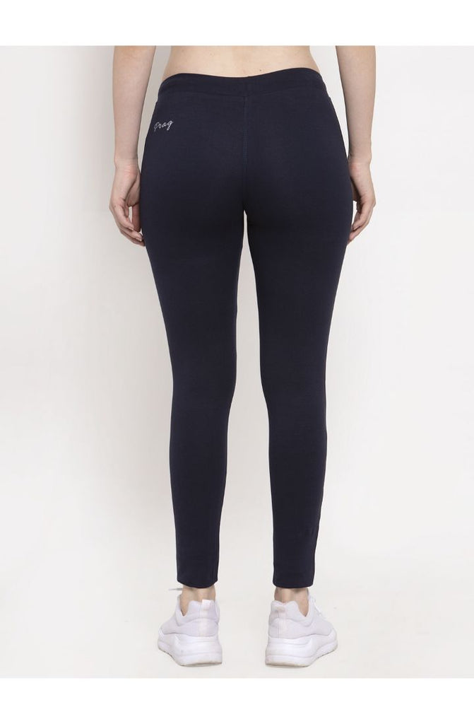 Prag & Co. Cotton Stretch Yoga Pant - Navy