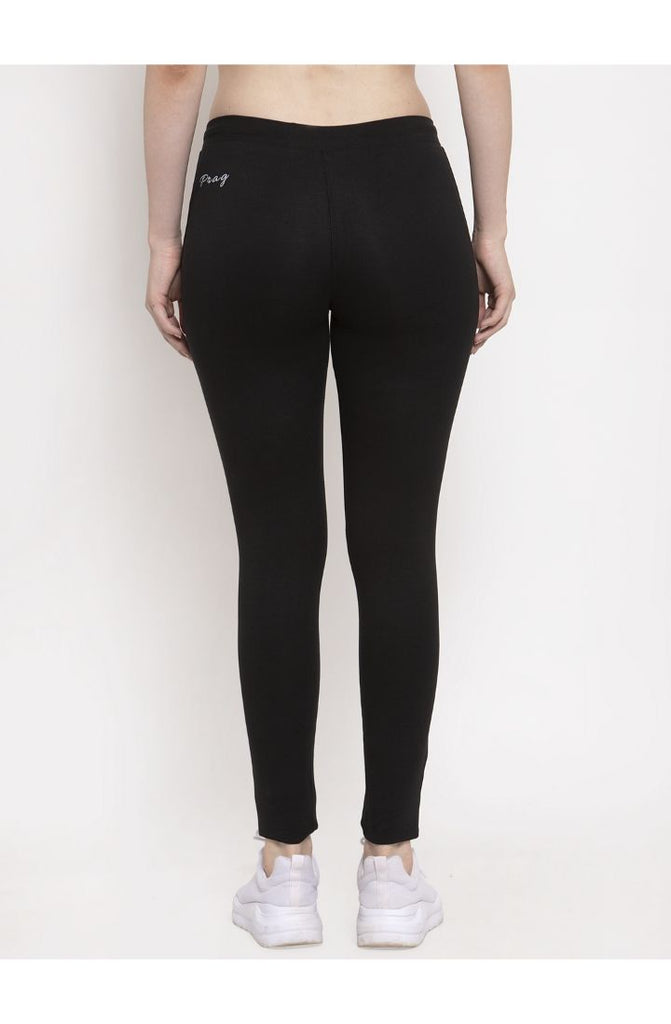 cotton yoga pants in black