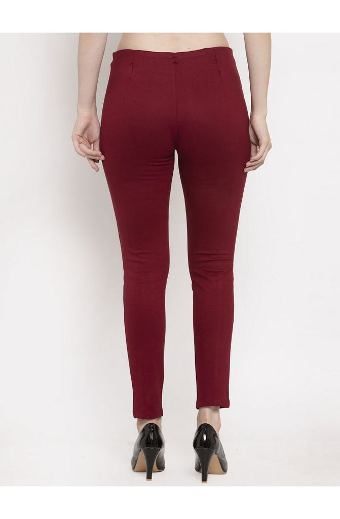 Maroon formal trousers for women
