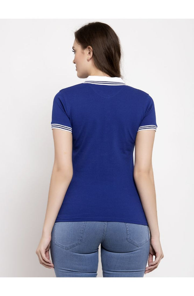 Polo Neck Tees in Royal Blue