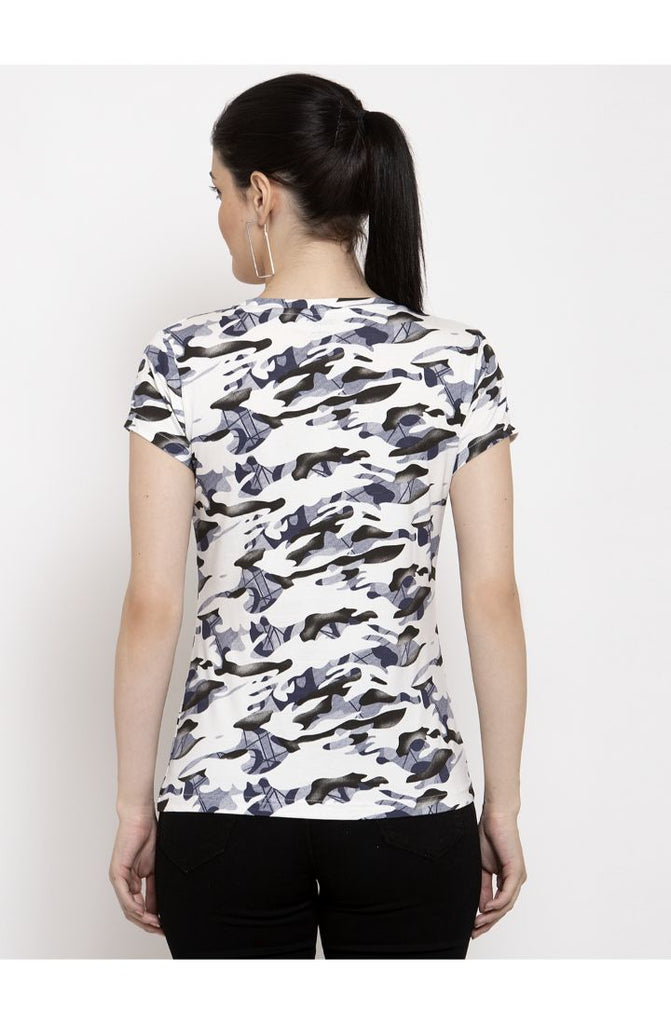 Buy Military White T shirt for women