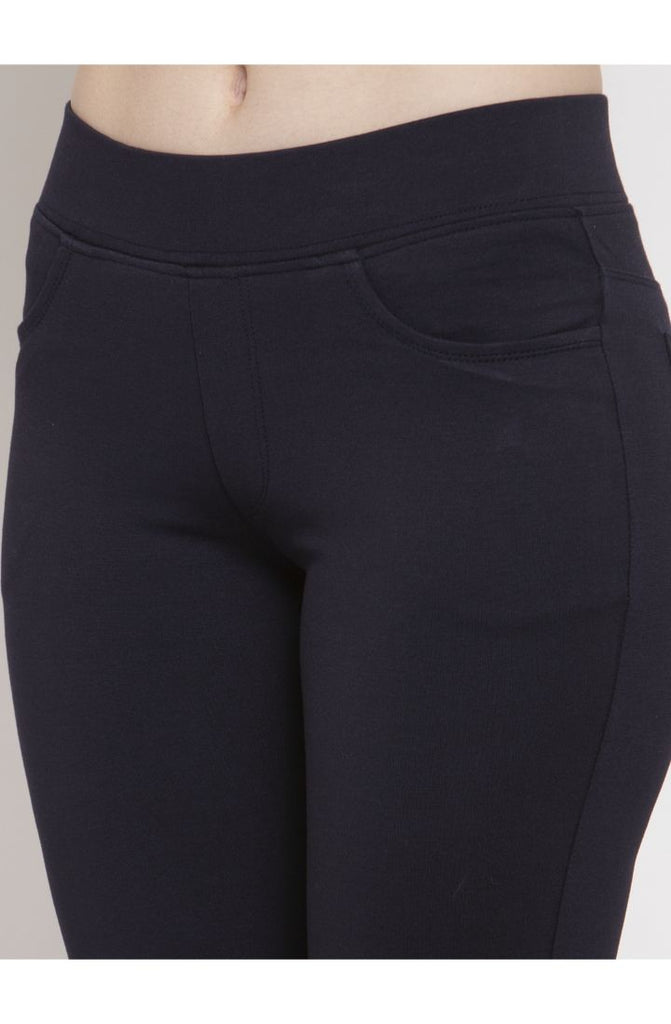 Navy ladies pants online at Prag