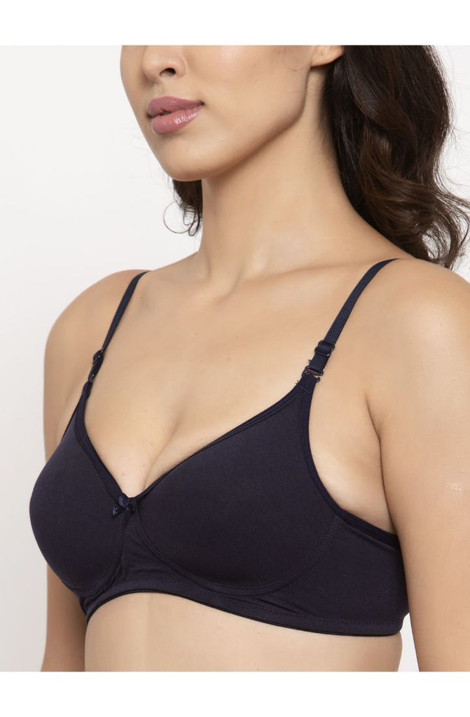 Navy light padded bra