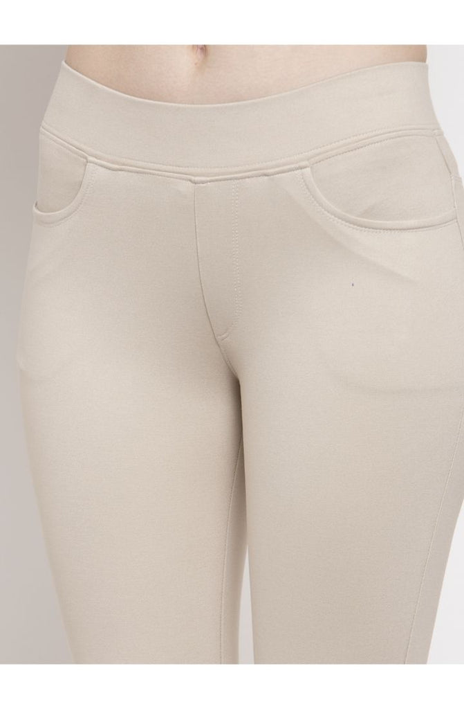 Prag & Co. Beige Narrow Fit Trouser Pant