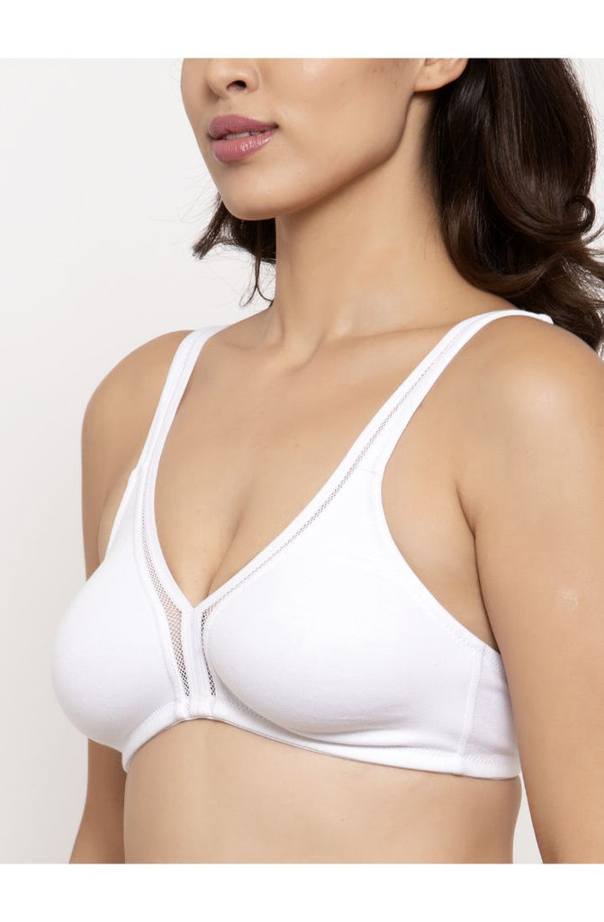 Women White Bra