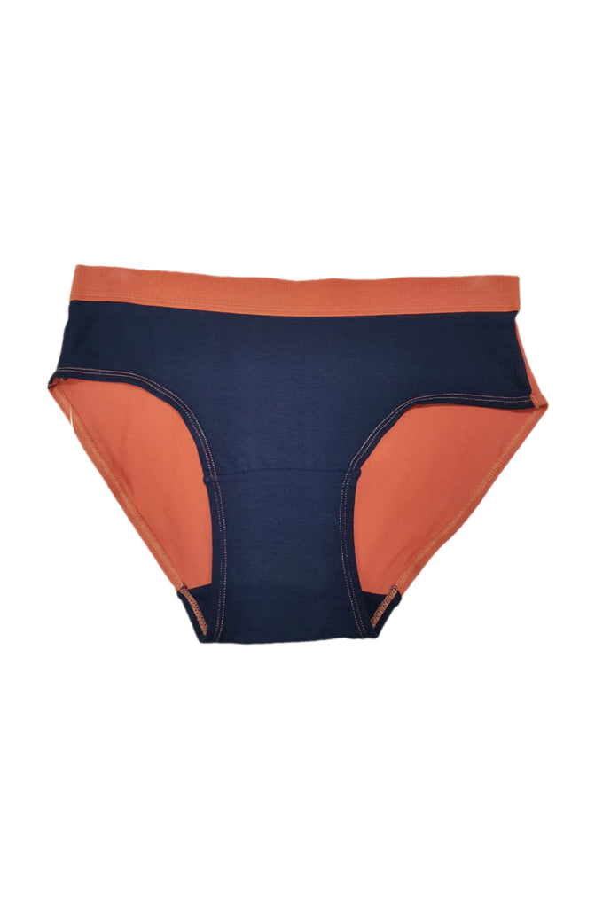 Hipster Panty With Gold-Navy Color