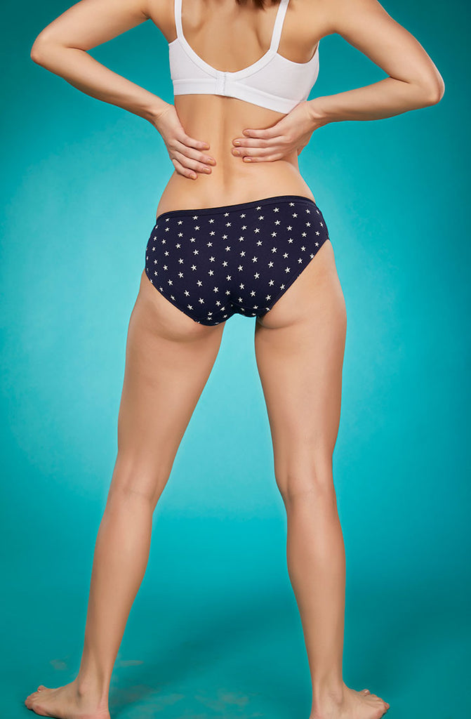 Back Side Cheeky Panty With Sky Lines-Star Print
