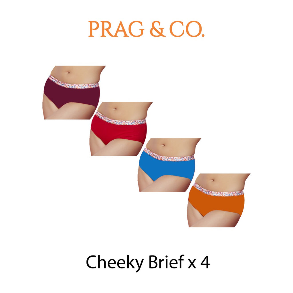 Cheeky Brief Combo - Falsa-Saffron - Rose Pink-Ocean