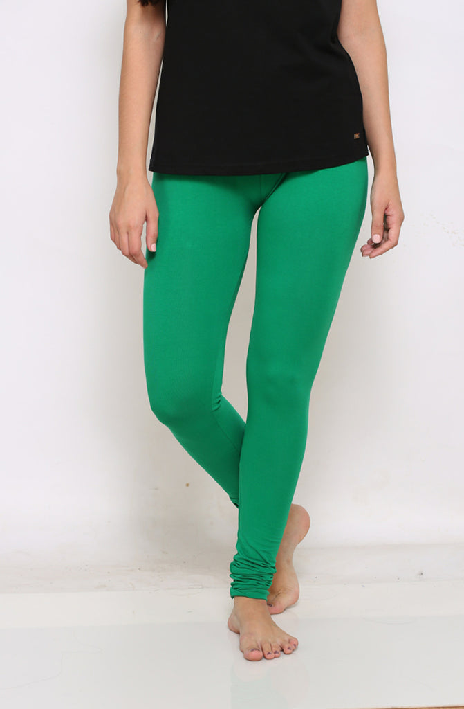 Green chudidar leggings