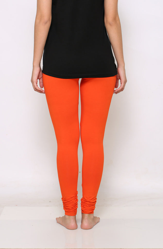 Orange chudidar leggings