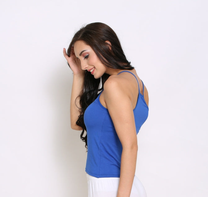 Left Side Modal Camisole With Blue Color