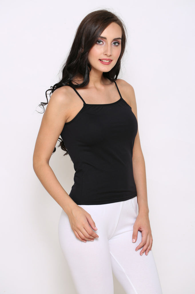 Right Side Black Camisole With White Leggings