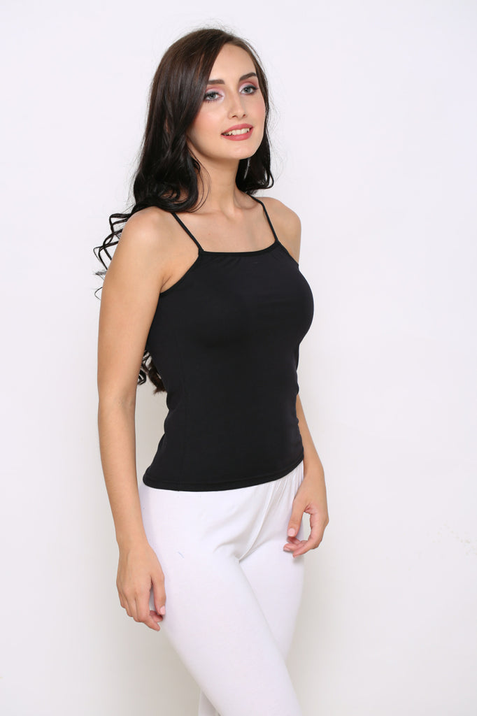 Black Camisole With White Leggings