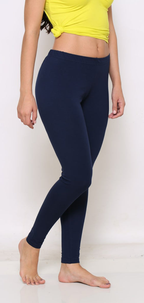 Navy angle length legging