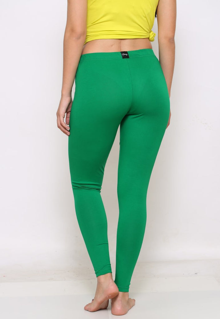 Green ankle 4 way stretch leggings