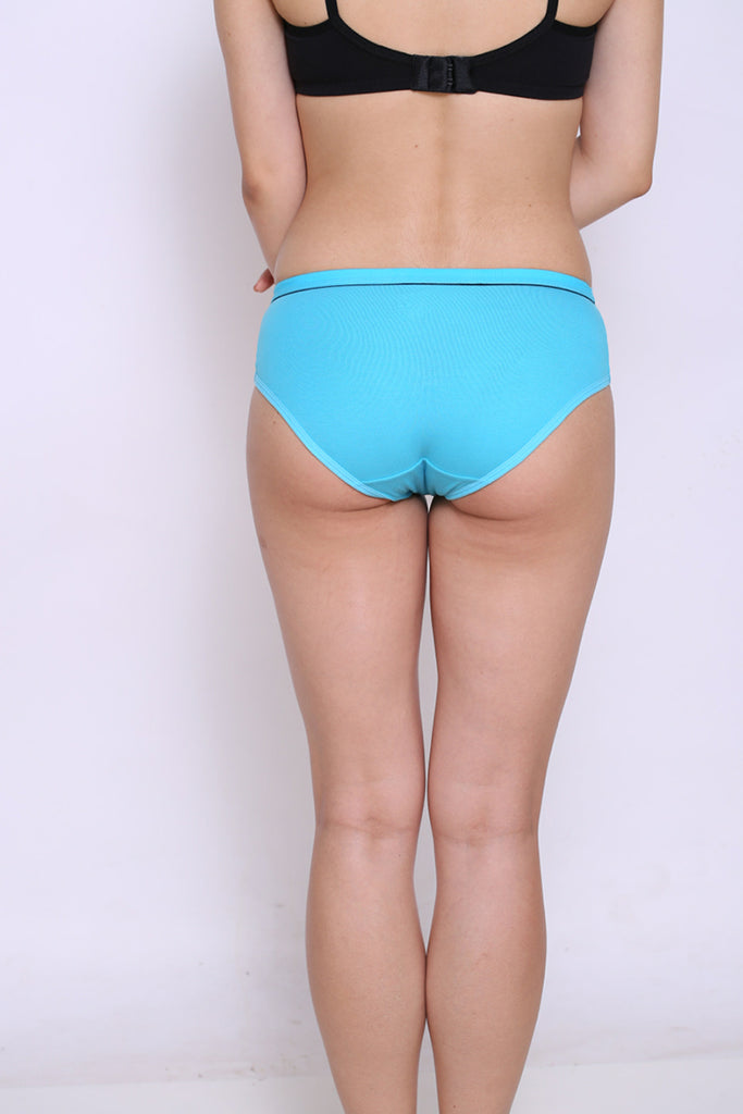 Back Side Hipster Brief With Sky Blue Color