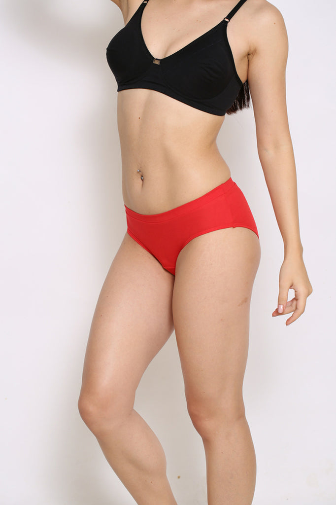 Left Side Hipster Brief With Royal Red Color
