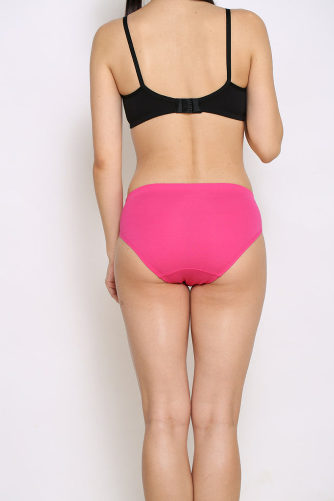 Back Side Hipster Brief 4 PC Pack - Royal Blue-Red - Sea Green-Pink