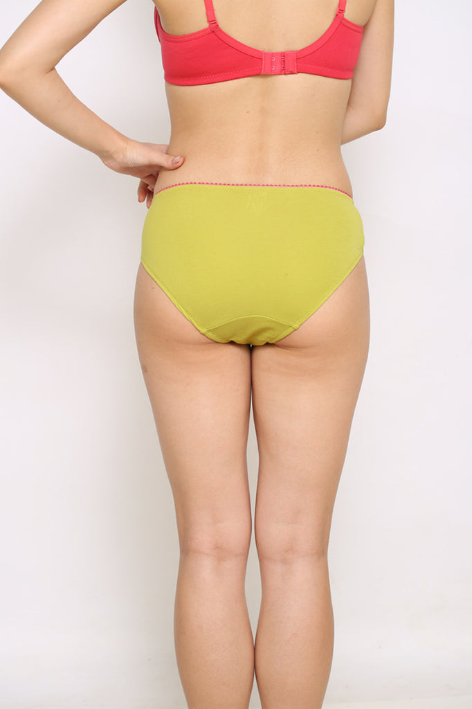 Back Side Bikini Brief With Yellow Color