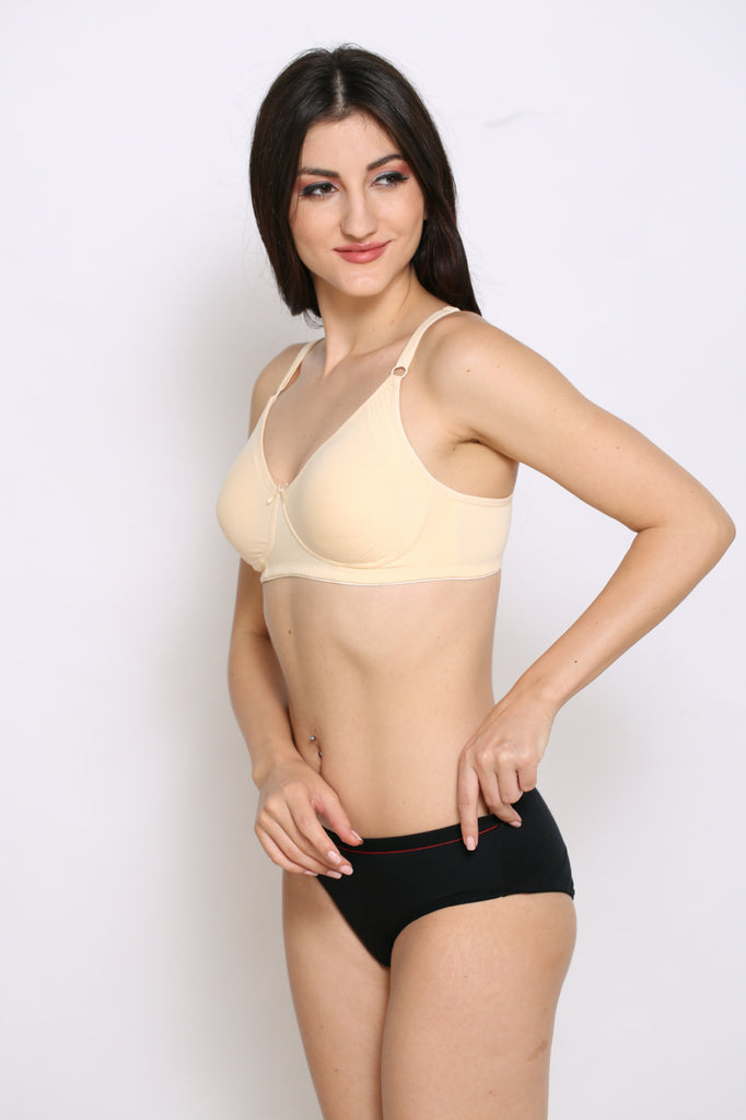 Skin Encircled Bra With Side Support