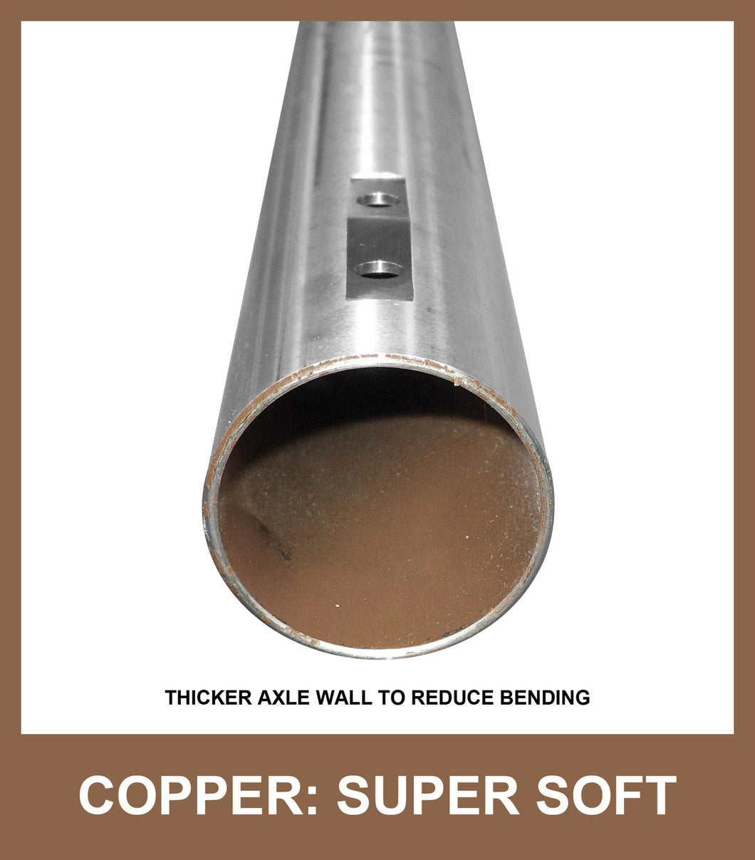 Axle 50mm x 1040mm COPPER ProDezine SuperSoft