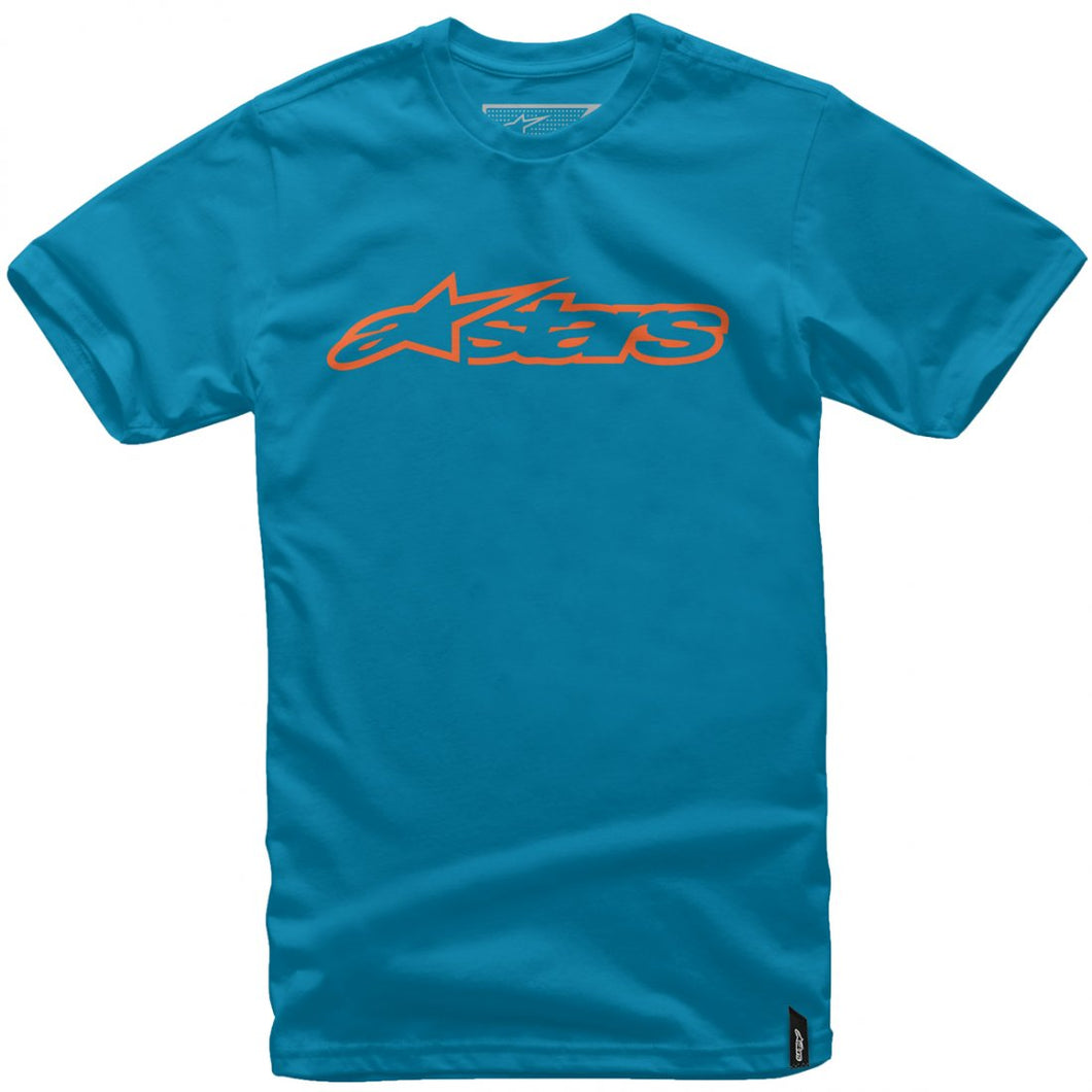 A/STARS - BLAZE T-SHIRT TURQUOISE/ORANGE - MEDIUM
