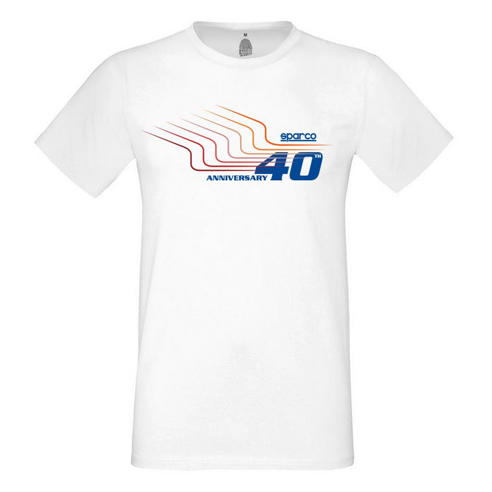 Sparco T-Shirt 40th Anniversary - White - Small