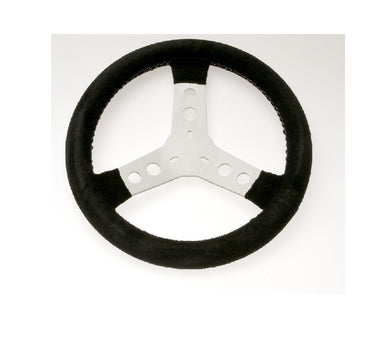 Steering Wheel - Chamois Suede 300mm Black