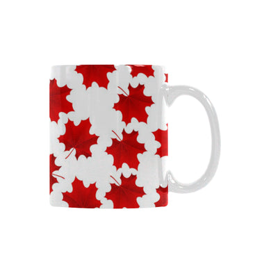 Red Maple Leaves Pattern Classical White Mug (FulFilled In US)