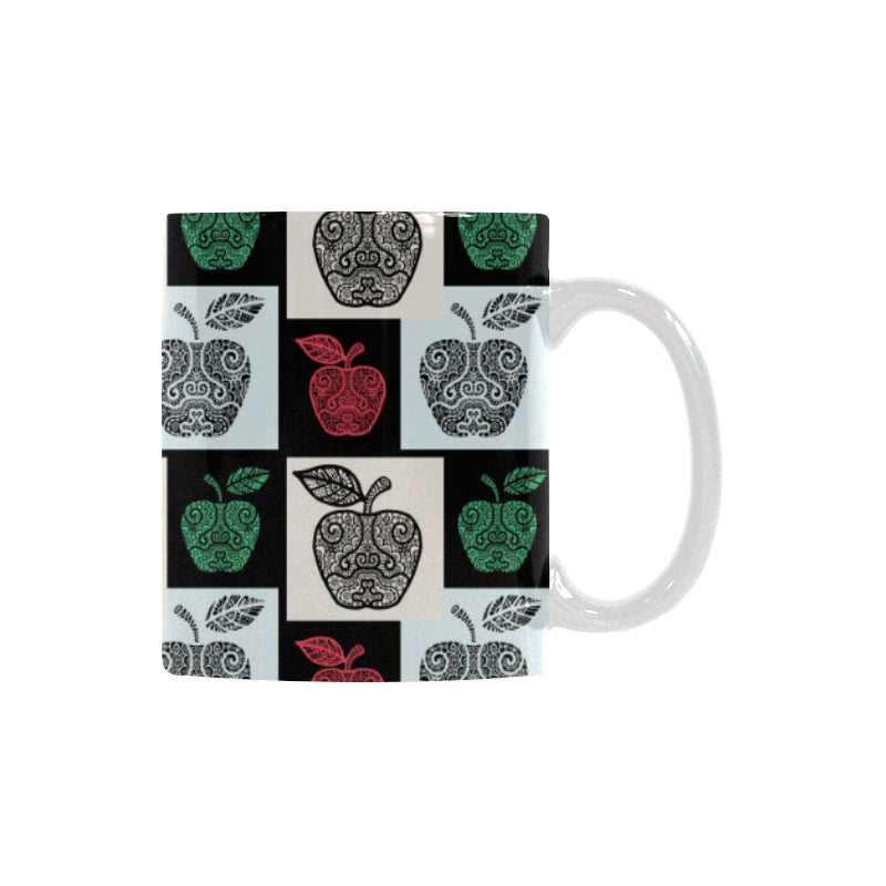 Apple Tribel Pattern Classical White Mug (FulFilled In US)