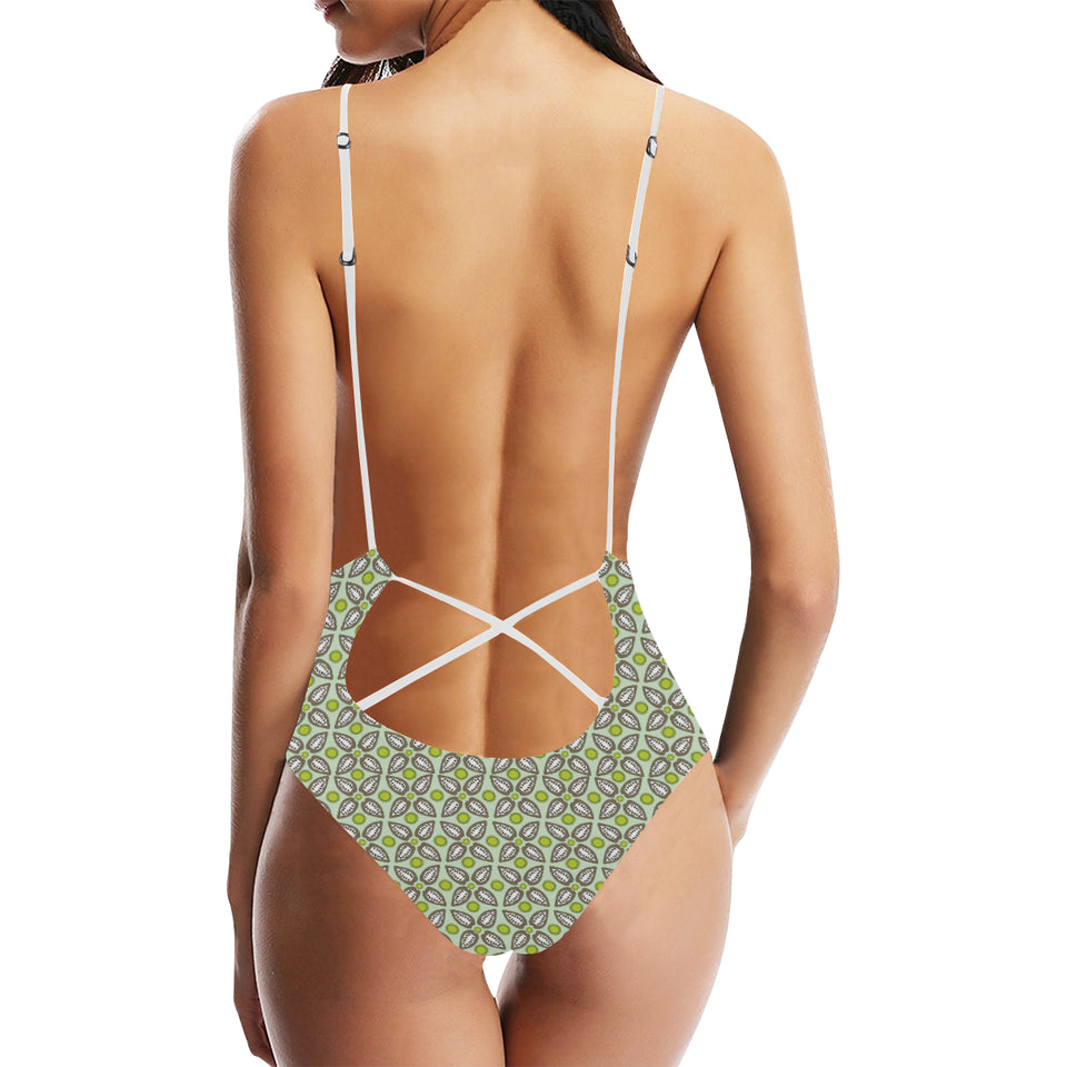 Cocoa Pattern background Women's One-Piece Swimsuit
