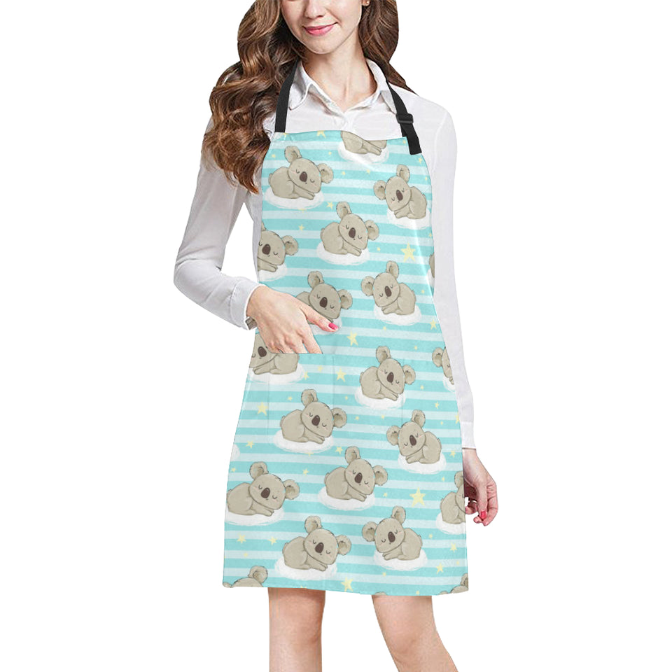 Sleep Koala Pattern Adjustable Apron