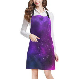 Pink Space Galaxy Pattern4 Adjustable Apron