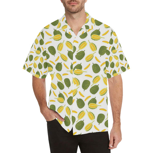 Durian Pattern Background Men's All Over Print Hawaiian Shirt