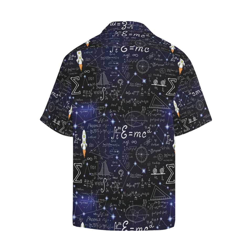 Math Pattern Print Design 02 Men's All Over Print Hawaiian Shirt (Model T58)