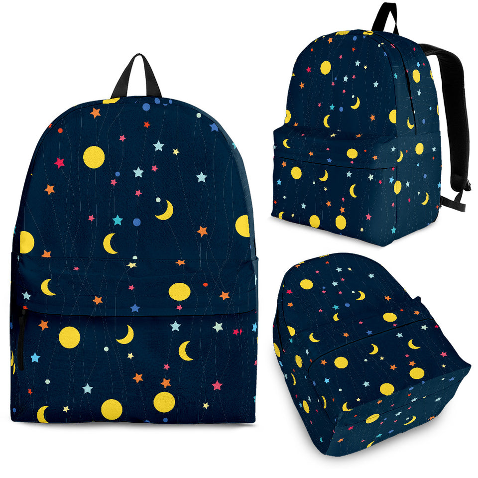 Moon Star Pattern Backpack
