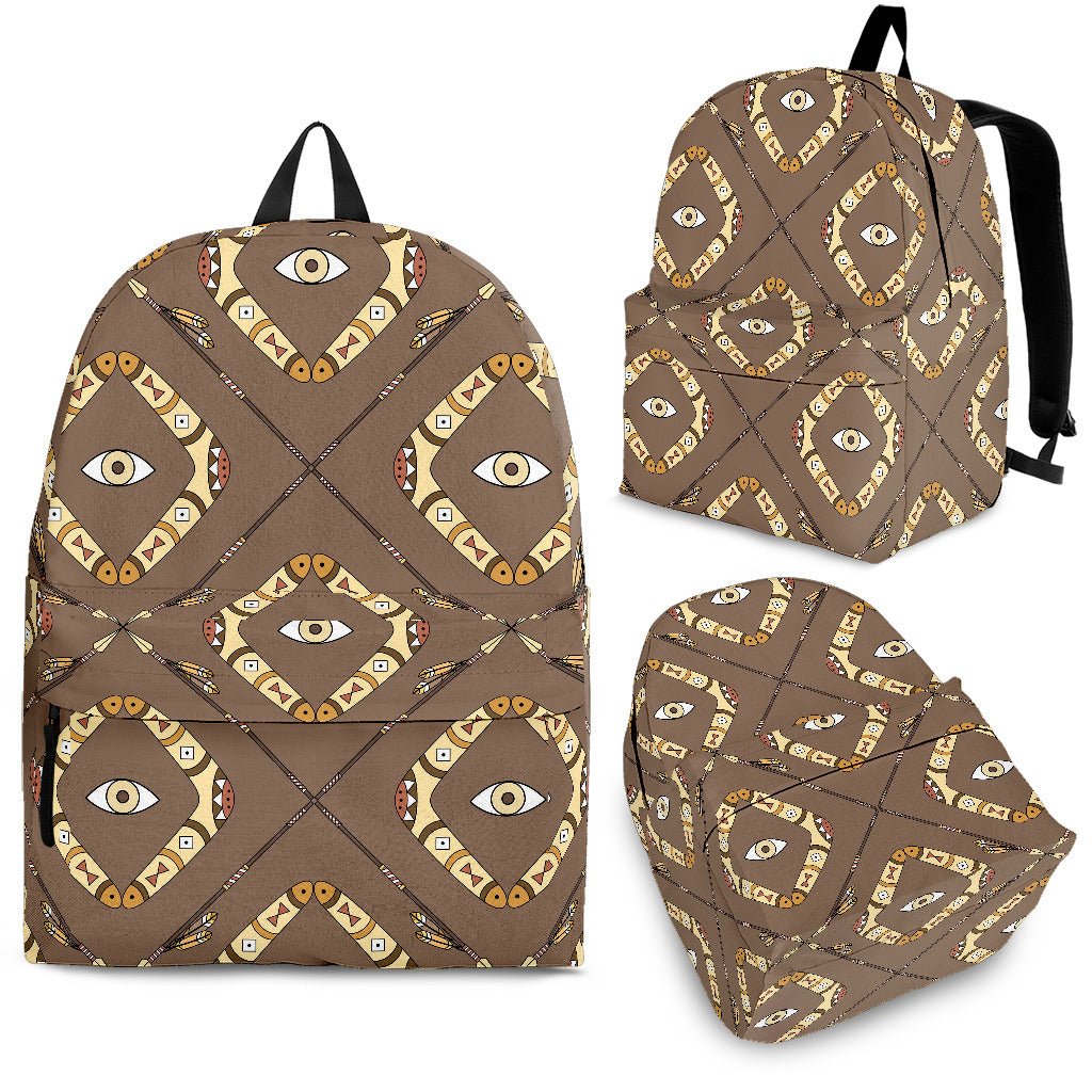 Traditional Boomerang Aboriginal Pattern Backpack