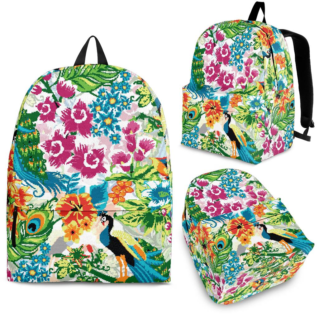 Colorful Peacock Pattern Backpack