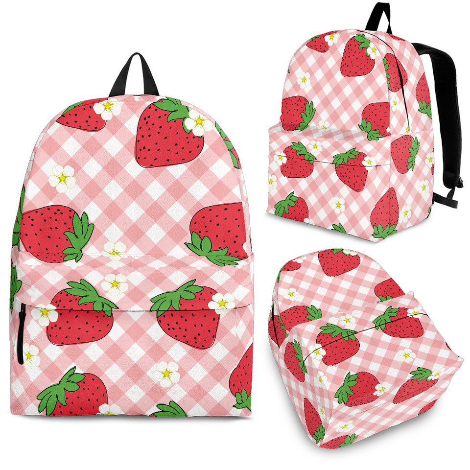 Strawberry Pattern Stripe Background Backpack