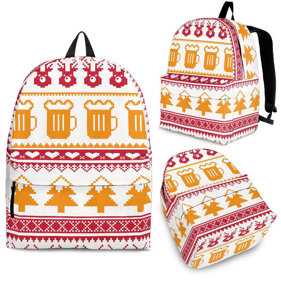 Beer Sweater Printed Pattern Backpack