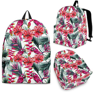 Pink Parrot Heliconia Pattern Backpack
